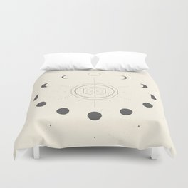 Moon Phases Light Duvet Cover