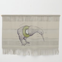 Kiwi Anatomy Wall Hanging