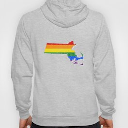 LGBT T-Shirt Massachusetts LGBT Gay Pride Flag Shirt Gift Hoody