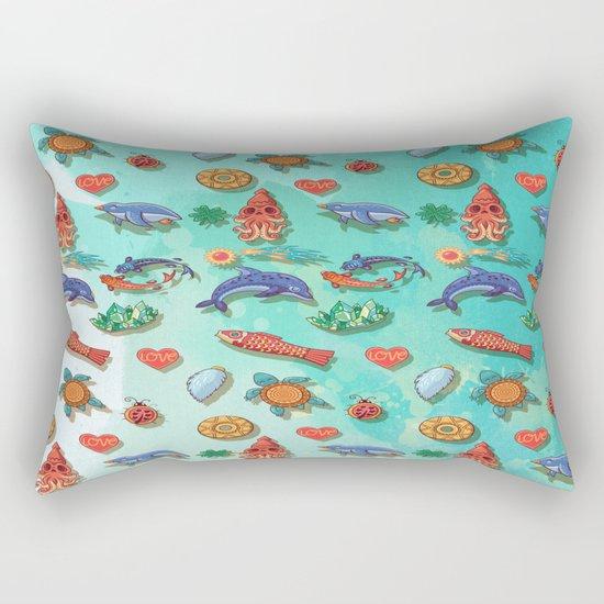 Acuarela animals 2 pattern Rectangular Pillow