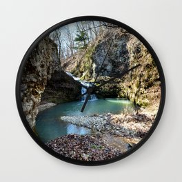 Alone in Secret Hollow with the Caves, Cascades, and Critters, No. 15 of 21 Wall Clock