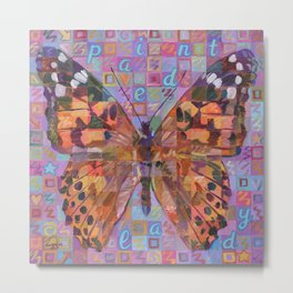 Butterfly (Painted Lady) Metal Print