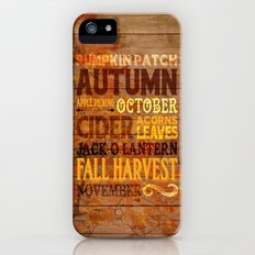 Subway Style Autumn Words iPhone (5, 5s) Slim Case