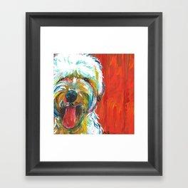 Soft-Coated Wheaten Terrier // Colorful  Framed Art Print