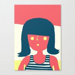 Self-portrait Waiting for Summer Canvas Print