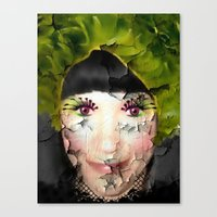 depression Canvas Prints featuring Depression by ADH Graphic Design