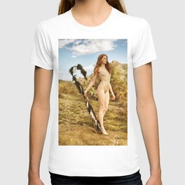 2840 Statuesque Desert Terrain Nude ~ SurXposed ~ Painteresque Girl in a Rocky Desert Landscape. T-shirt