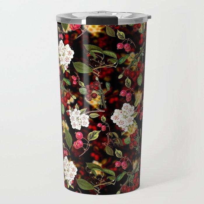 Cherries with Blossoms Travel Mug