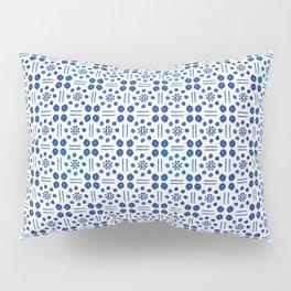 indigo clover tiles Pillow Sham