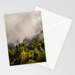 Foggy mountains in the midlands of Madeira Stationery Cards