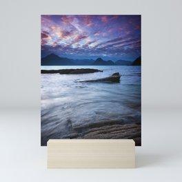 Sunset Over the Cuillin Mini Art Print