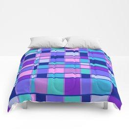 Rectangle Pattern blue violett Comforters