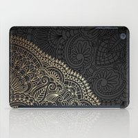 black and gold iPad Cases featuring black & gold by Pink Berry Patterns