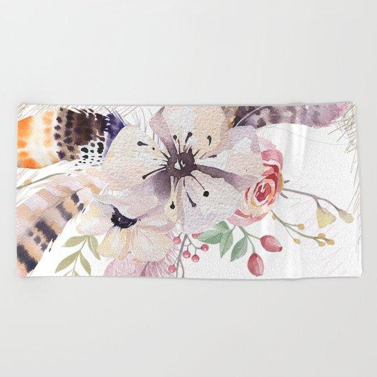 Flowers bouquet #30 Beach Towel