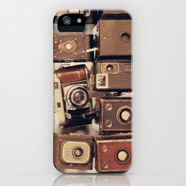 Old Cameras (Vintage and Retro Film Cameras Collection) iPhone Case