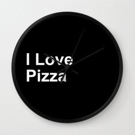 I Love Pizza Wall Clock