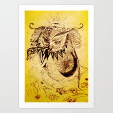 Owl Doodle Art Print