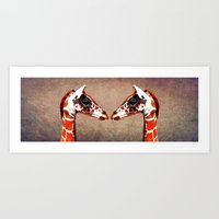 twins Art Prints featuring twins by Steffi Louis