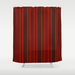 Red and Black Stripes Shower Curtain