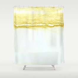 Yellow Surf Shower Curtain