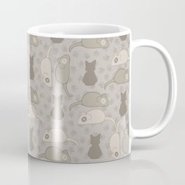Grey and Brown Cat Stitched Mouse Vector Pattern Coffee Mug