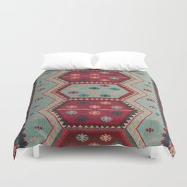 V31 Traditional Colored Moroccan Carpet. Duvet Cover
