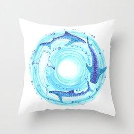 Circle of the Seas Throw Pillow