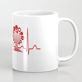 Technology Teacher Heartbeat Coffee Mug
