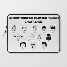 Stormtrooper Blaster Target Cheat Sheet Laptop Sleeve