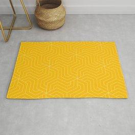 Mango - yellow - Modern Vector Seamless Pattern Rug