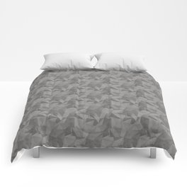 Abstract Geometrical Triangle Patterns 2 Benjamin Moore 2019 Trending Color Cinder Dark Gray AF-705 Comforters