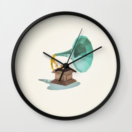 Lo-Fi goes 3D - Vintage Phonograph Wall Clock