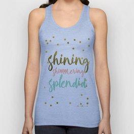 Shining shimmering splended Unisex Tank Top