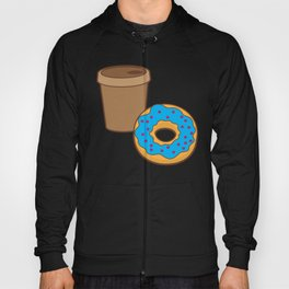 a coffee and a donut Hoody