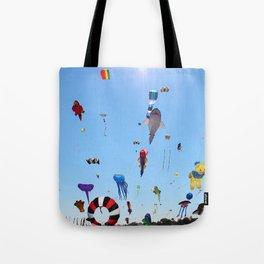 Kites over Lake Michigan Tote Bag