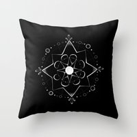 celestial Throw Pillows featuring Celestial by Jess Duffy