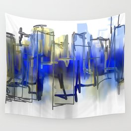 Beyond Blue Wall Tapestry