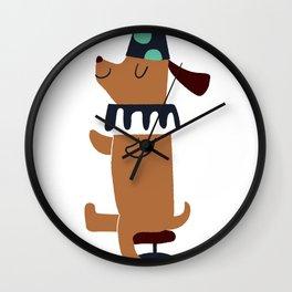 circus dog Wall Clock