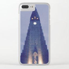 Hallgrímskirkja church Clear iPhone Case