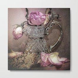 Petals and Lace Metal Print