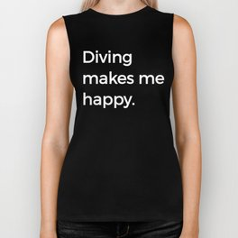 Diving Makes Me Happy Sports High Dive Diver Biker Tank