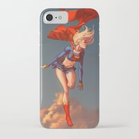 supergirl iPhone & iPod Cases featuring Supergirl II by Caleb Thomas