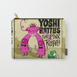Yoshi Battles The Pink Robots Carry-All Pouch