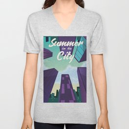 Summer in the City Unisex V-Neck