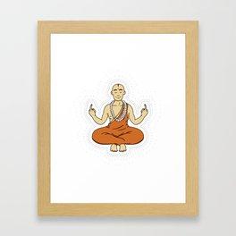 Spiritual peace, unfuck the world ;) Framed Art Print