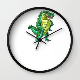 Crocodile Dad Alligator Reptile Animal Wall Clock