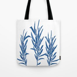 Eucalyptus Branches Blue Tote Bag