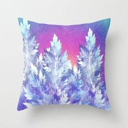 Winter's Night Throw Pillow