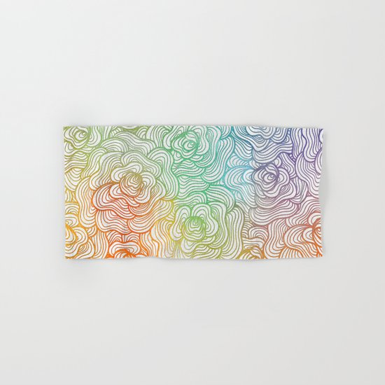 Abstract Roses 2 Hand & Bath Towel
