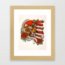 Exotic Tiger Flash Framed Art Print